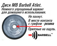 Диск MB Barbell Atlet